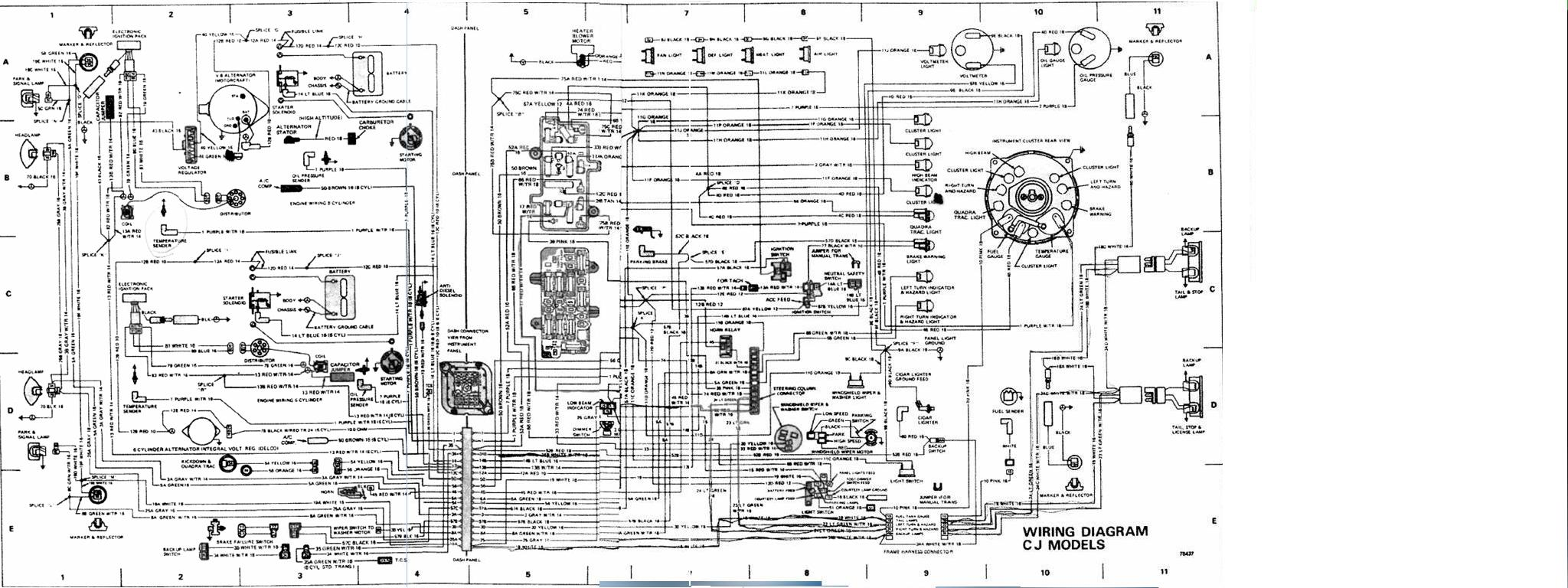 1983 cj7 wiring diagram wiring diagram fascinating Jeep CJ7 Fuse Box Diagram