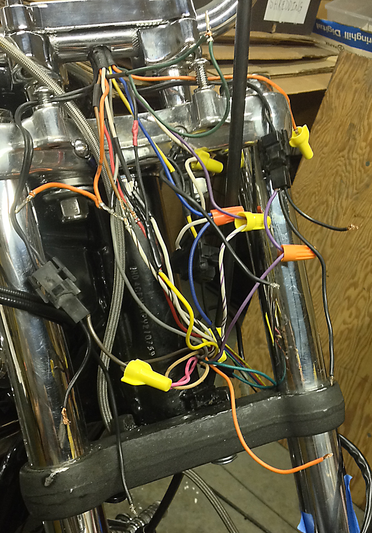 1993 harley sportster xlh - removed headlight and removed ...