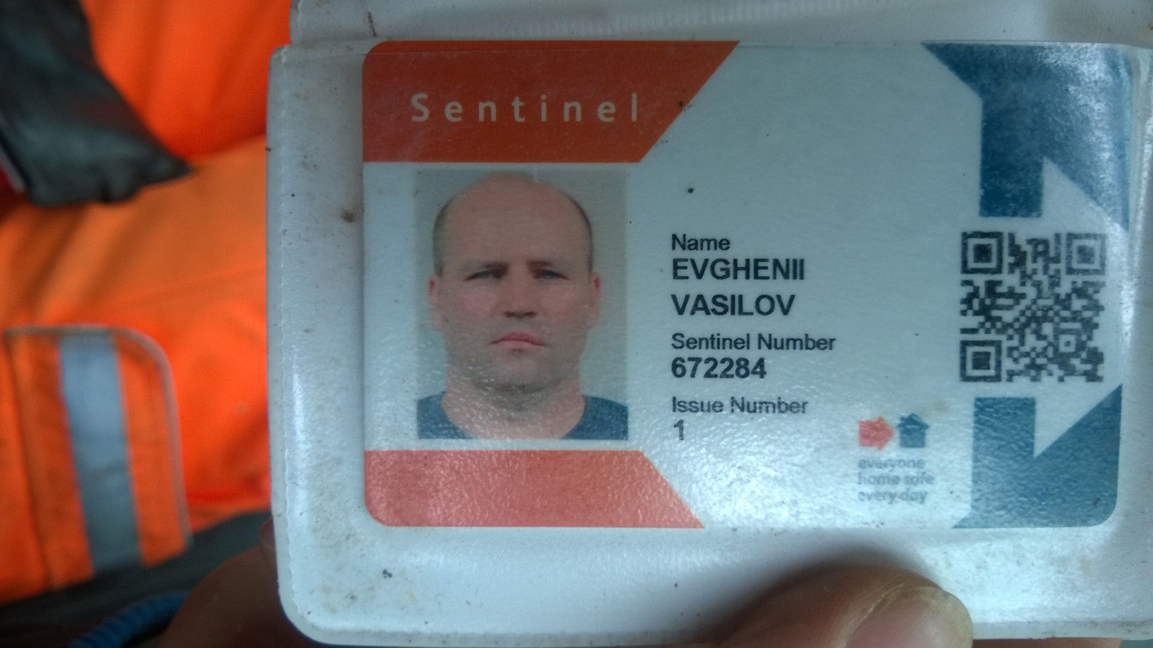 Photo of drivers ID card