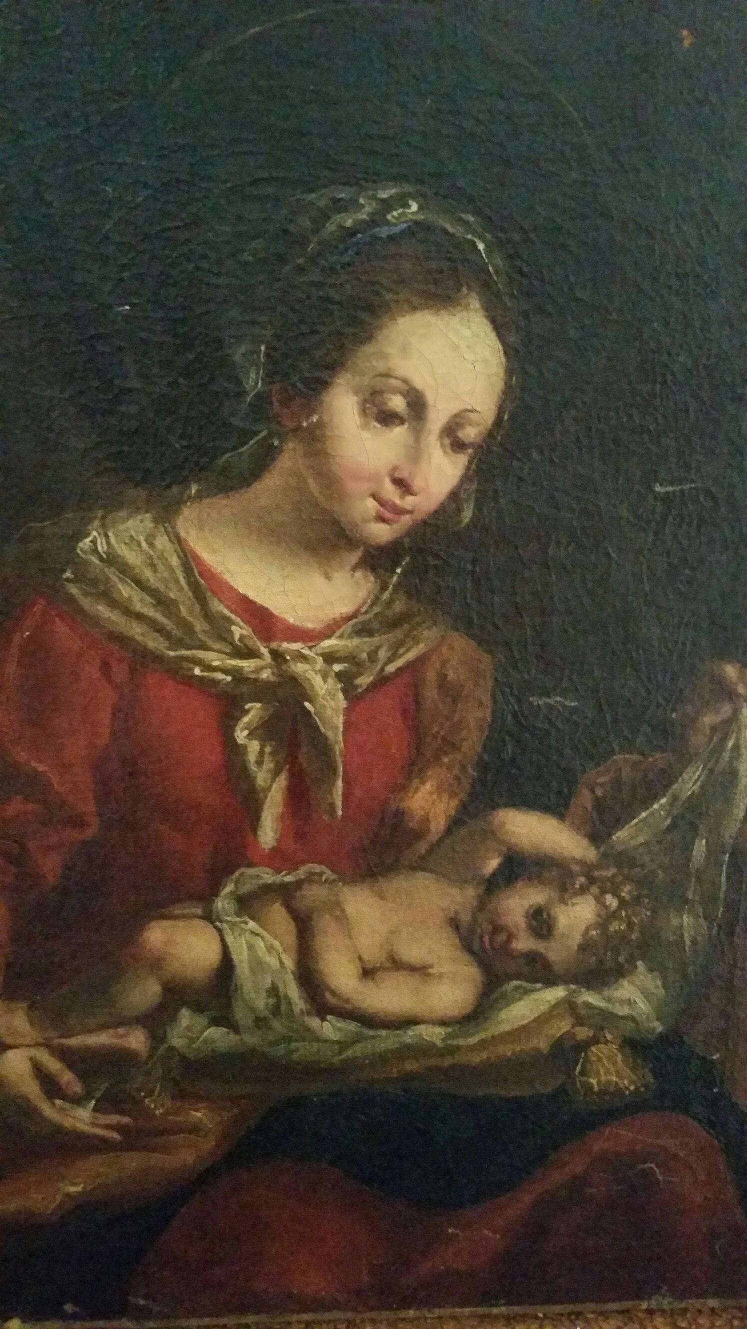 Madonna with Baby 150 yr old oil painting.20150607_141945_resized.jpg