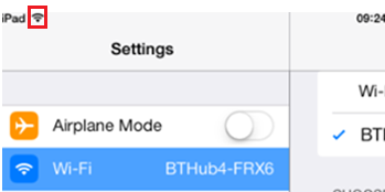 Connecting an iPad to your BT Home Hub
