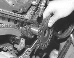 Remove the crankshaft position sensor trigger wheel