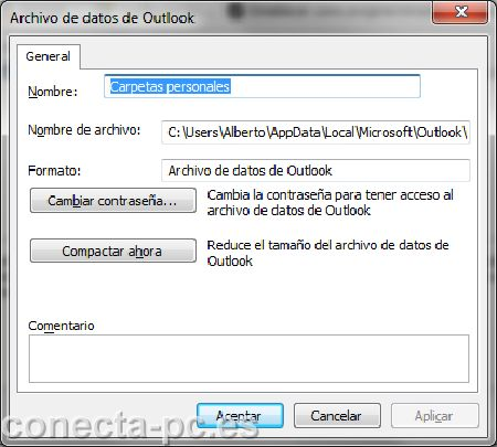 Reducir buzon Outlook 2010