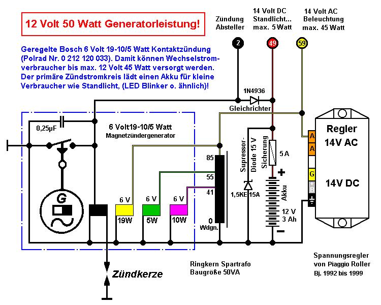 Groß Schaltplan Für 12 Draht Generator Fotos - Der Schaltplan ...