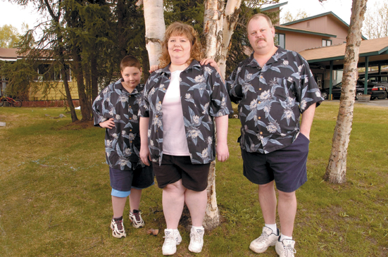 obese family of three
