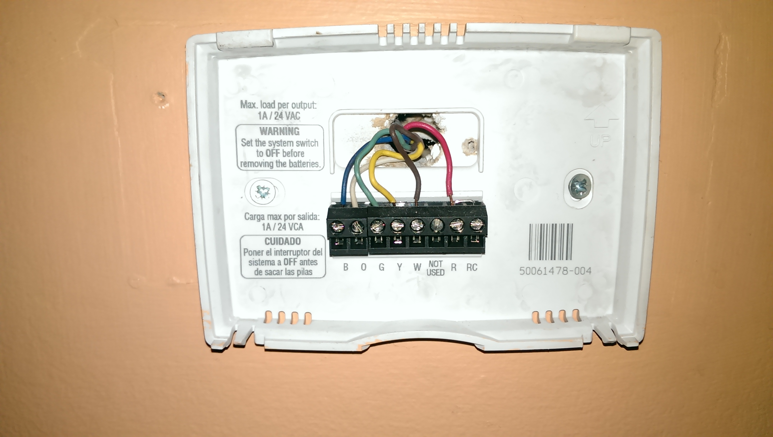 I Have An Old Trane Twv730b140a0 Air Handler In My Condo Unit That White Rodgers Thermostat Wiring 1f82 51 Imag0807imag0807 Imag0655