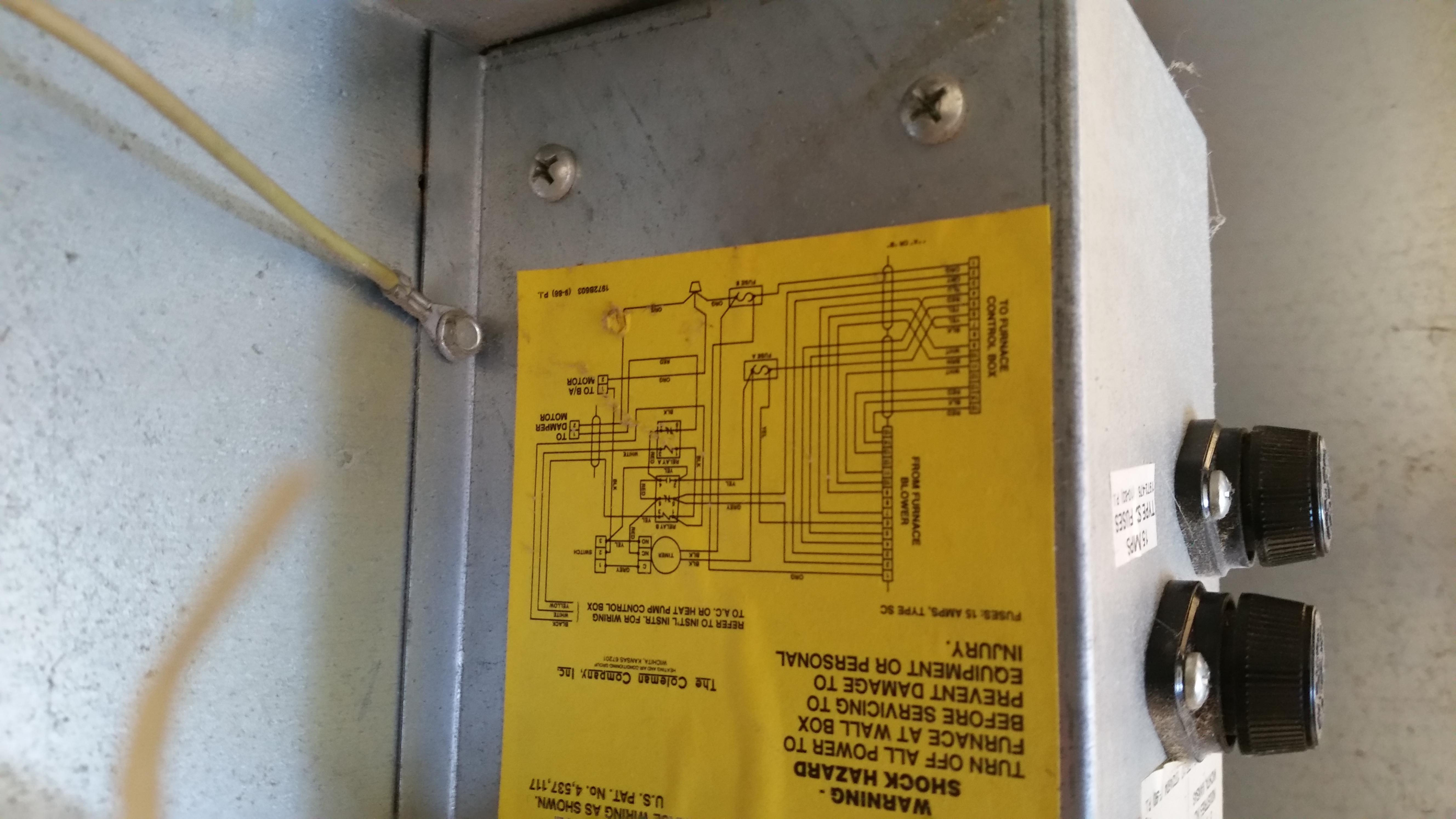 Xz 8559 Coleman Furnace Parts Diagrams