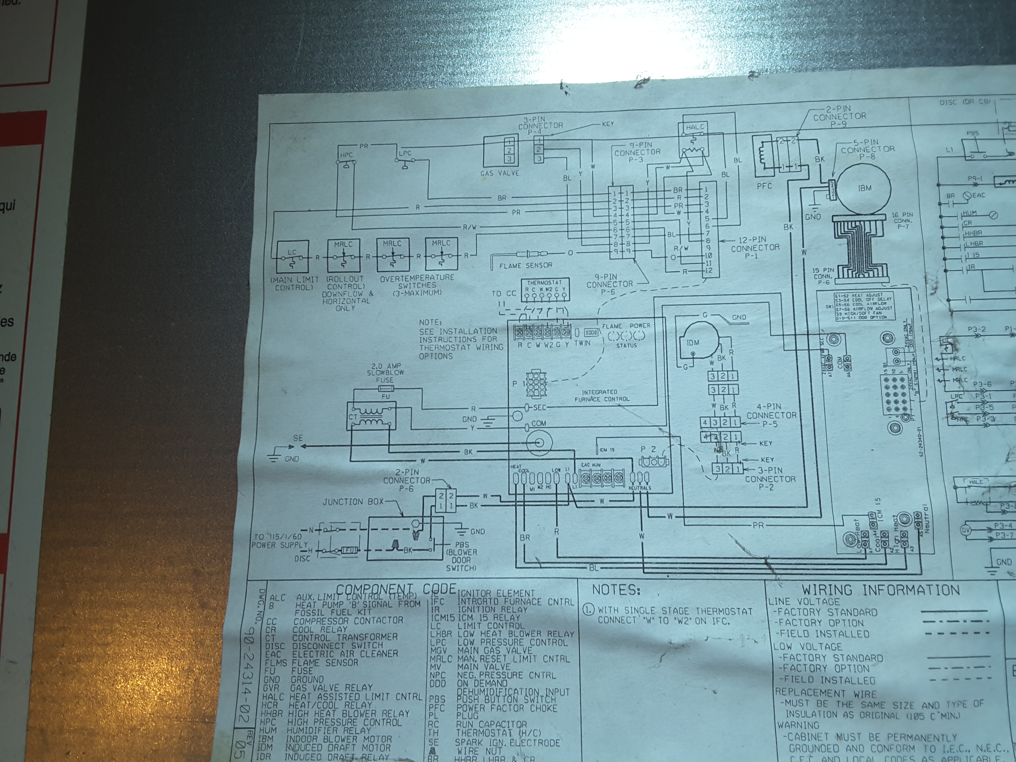 I Have A Ruud Silhouette Ii Plus Lxe Two Stage Furnace This Morning Ugph Wiring Diagram 14523816988811971876401
