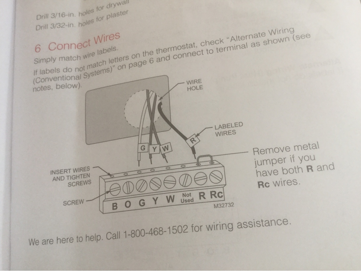 Hvac Thermostat Question Replaced Old With Honeywell Drawing Notes Image0
