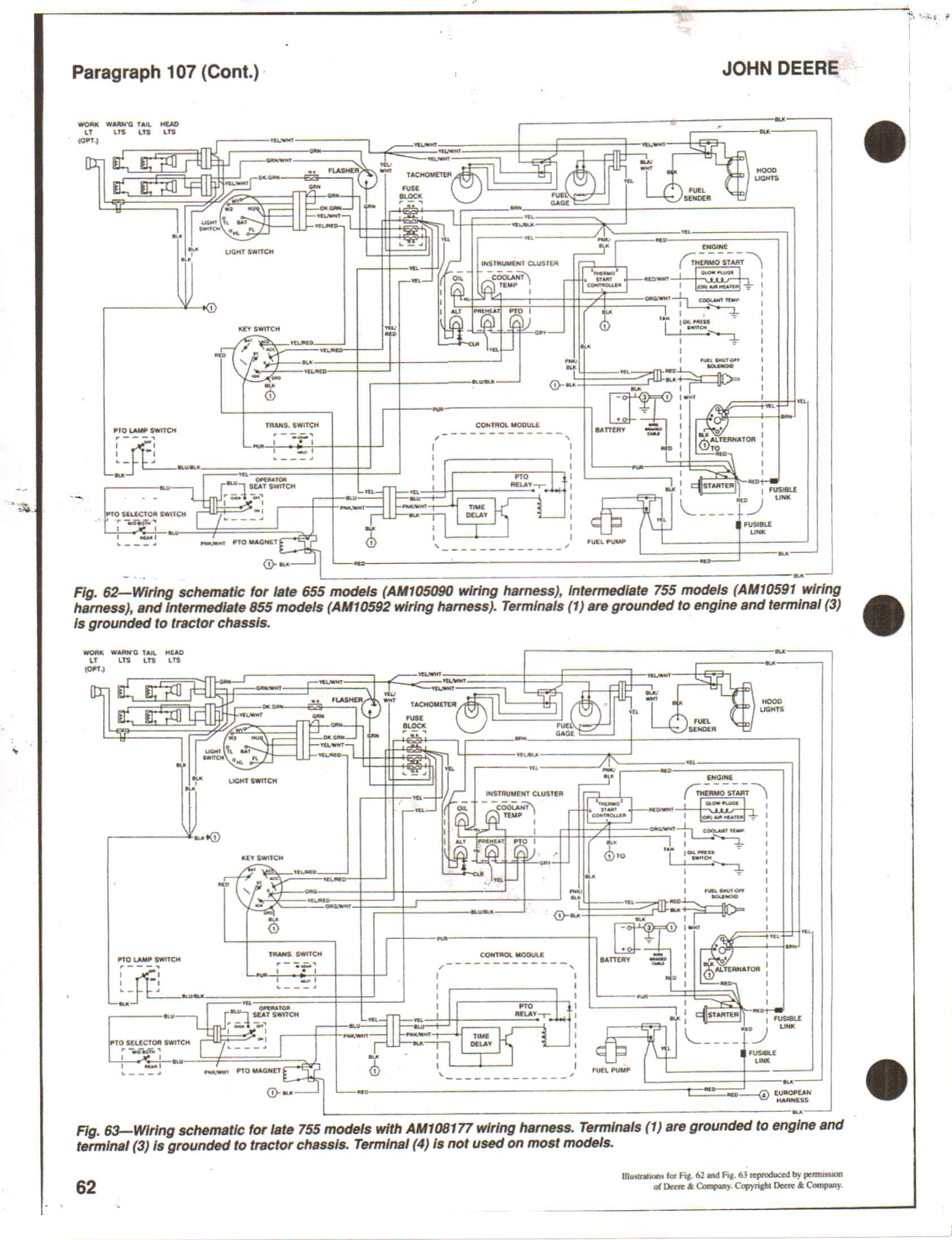 i have a deere 855 compact tractor won t start with the key but if rh justanswer com John Deere Electrical Schematics John Deere 4020 Electrical Diagram