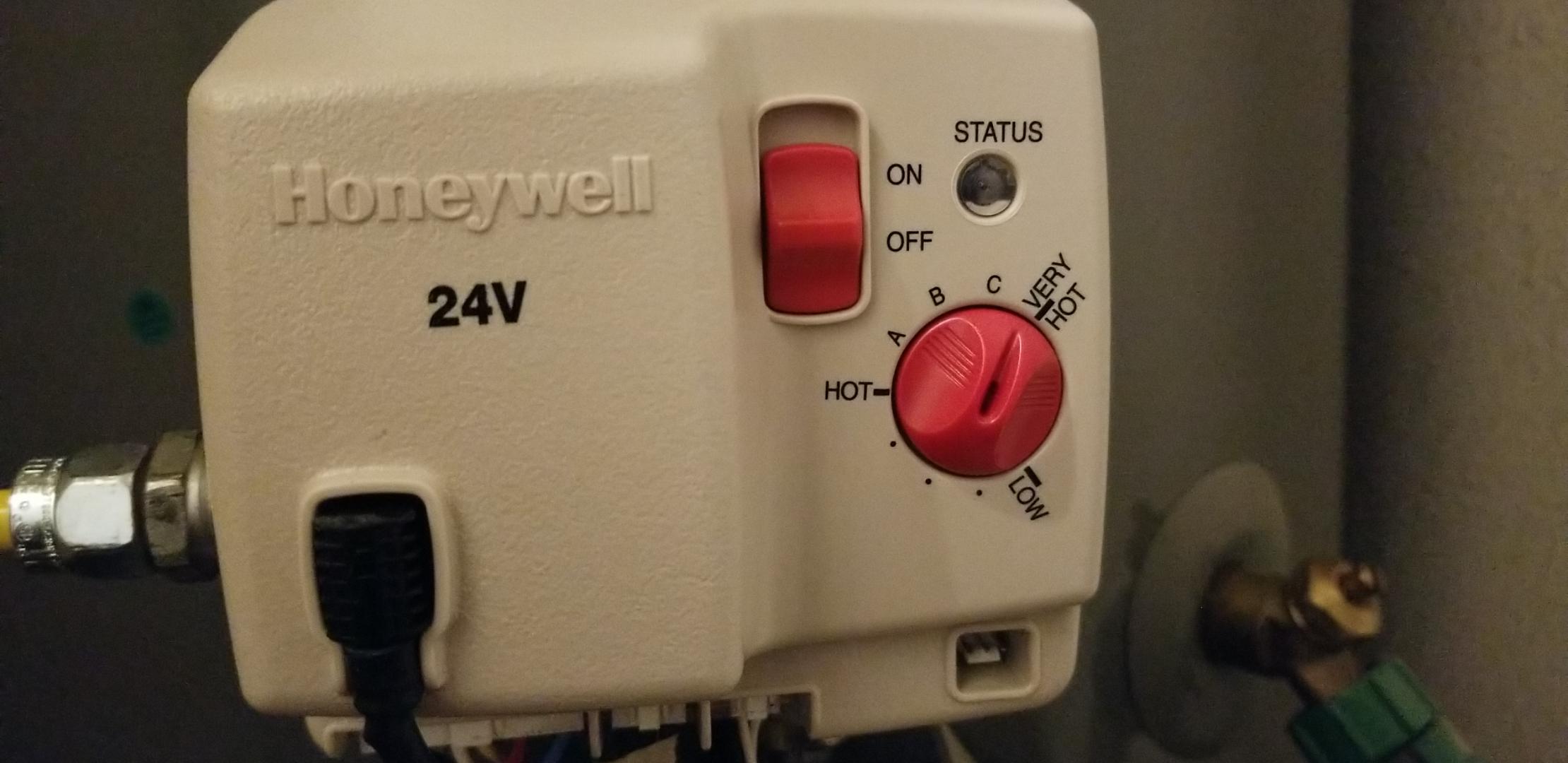 Honeywell Hot Water Heater Status Light Shelly Lighting