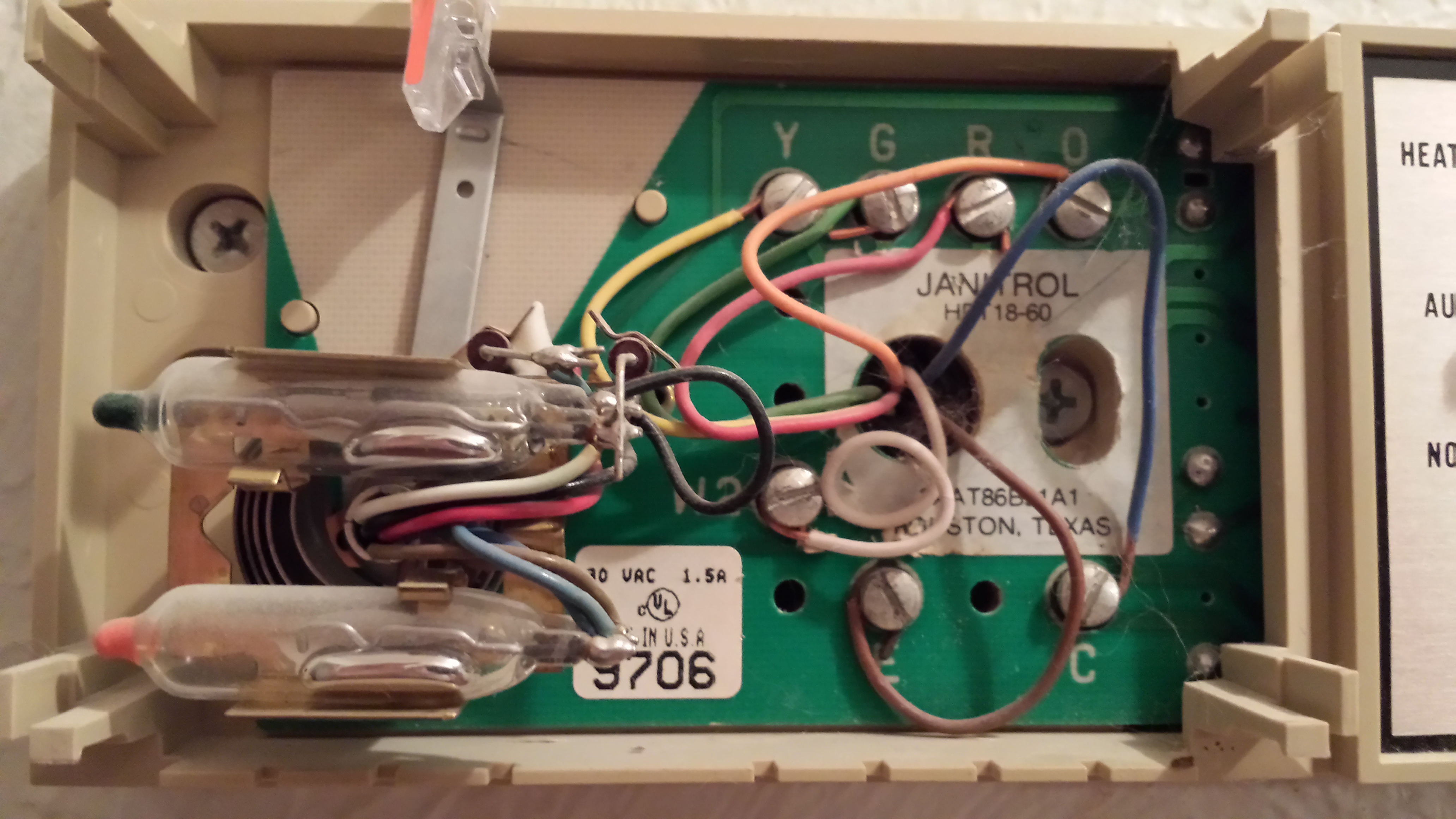 I am replacing a Janitrol HPT18-60 thermostat with a ... Janitrol Hpt Wiring Diagram on centurion wiring diagram, weather king wiring diagram, lochinvar wiring diagram, general wiring diagram, concord wiring diagram, payne wiring diagram, sears wiring diagram, crosley wiring diagram, columbia wiring diagram, panasonic wiring diagram, estate wiring diagram, broan wiring diagram, roper wiring diagram, johnson controls wiring diagram, heat controller wiring diagram, marvair wiring diagram, climatrol wiring diagram, goettl wiring diagram, viking wiring diagram, evcon wiring diagram,