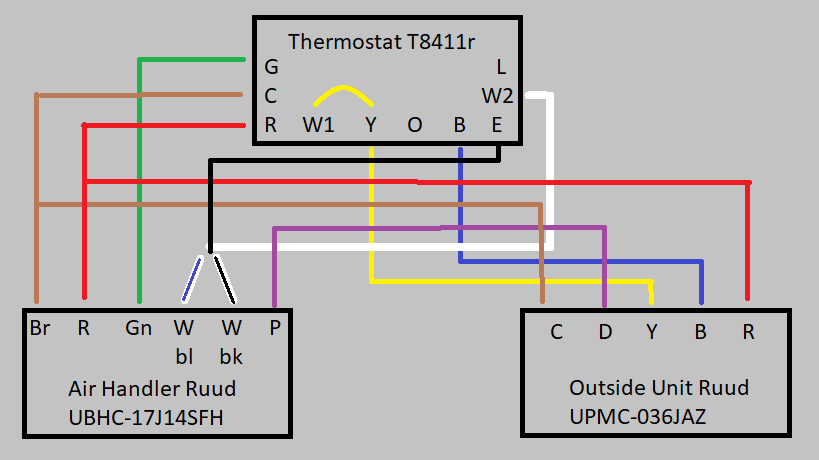 I Need A Basic Wiring Diagram For An Old Ruud Heat Pump  Air Handler  T