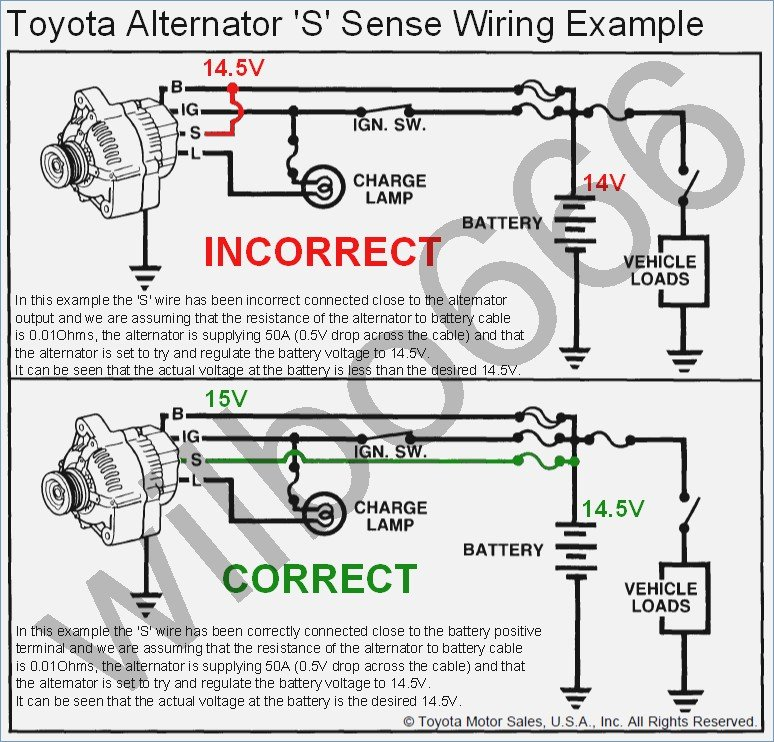 Toyota Alternator Wiring Diagram - Wiring Source •