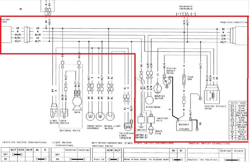 I have a 2014 Kawasaki Mule 610 4x4 and I am trying to ... Kawasaki Ignition Switch Wiring Diagram on