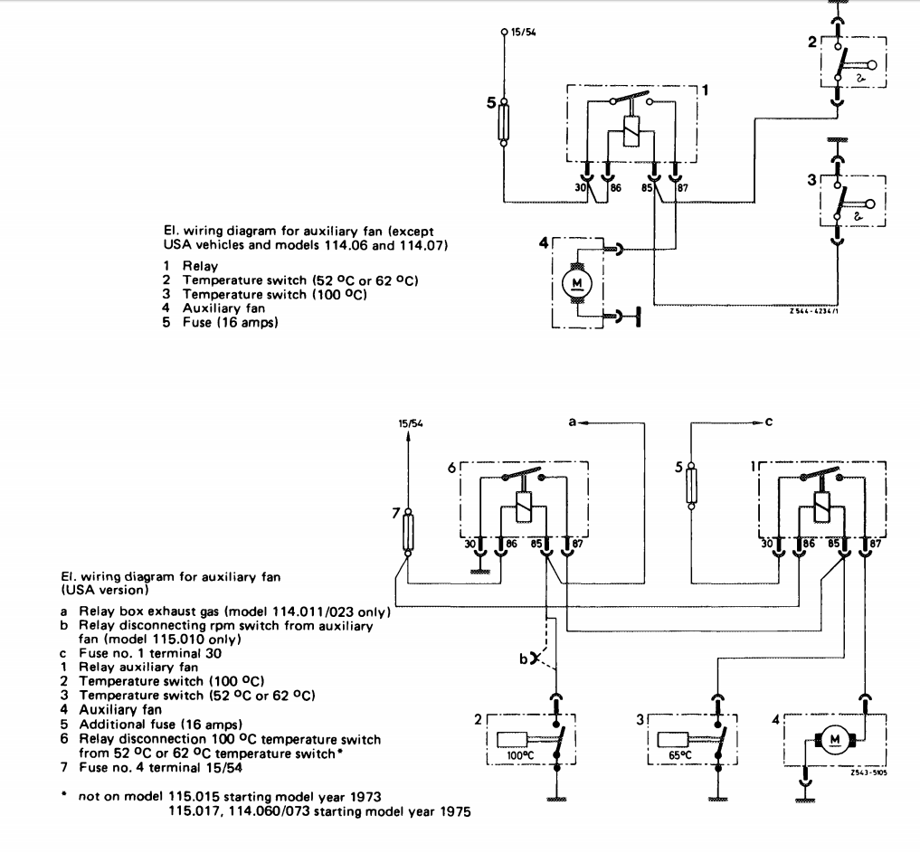 Im Looking For An Aux Fan Wiring Diagram A 1972 W114 250 Nope Box
