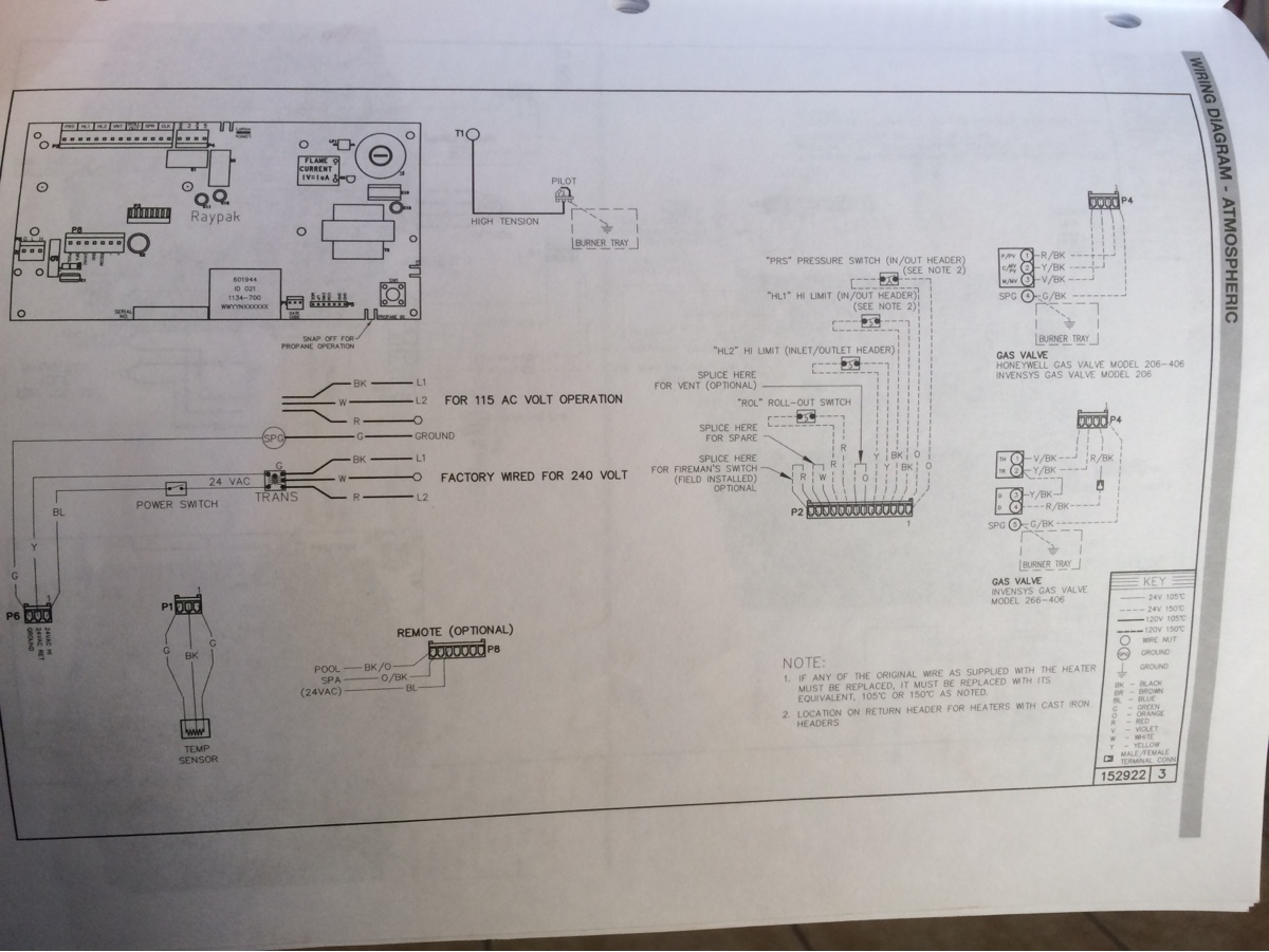 Fuse Keeps Blowing On Raypak 406 Pool Heater After The System Versa Wiring Diagram Image0