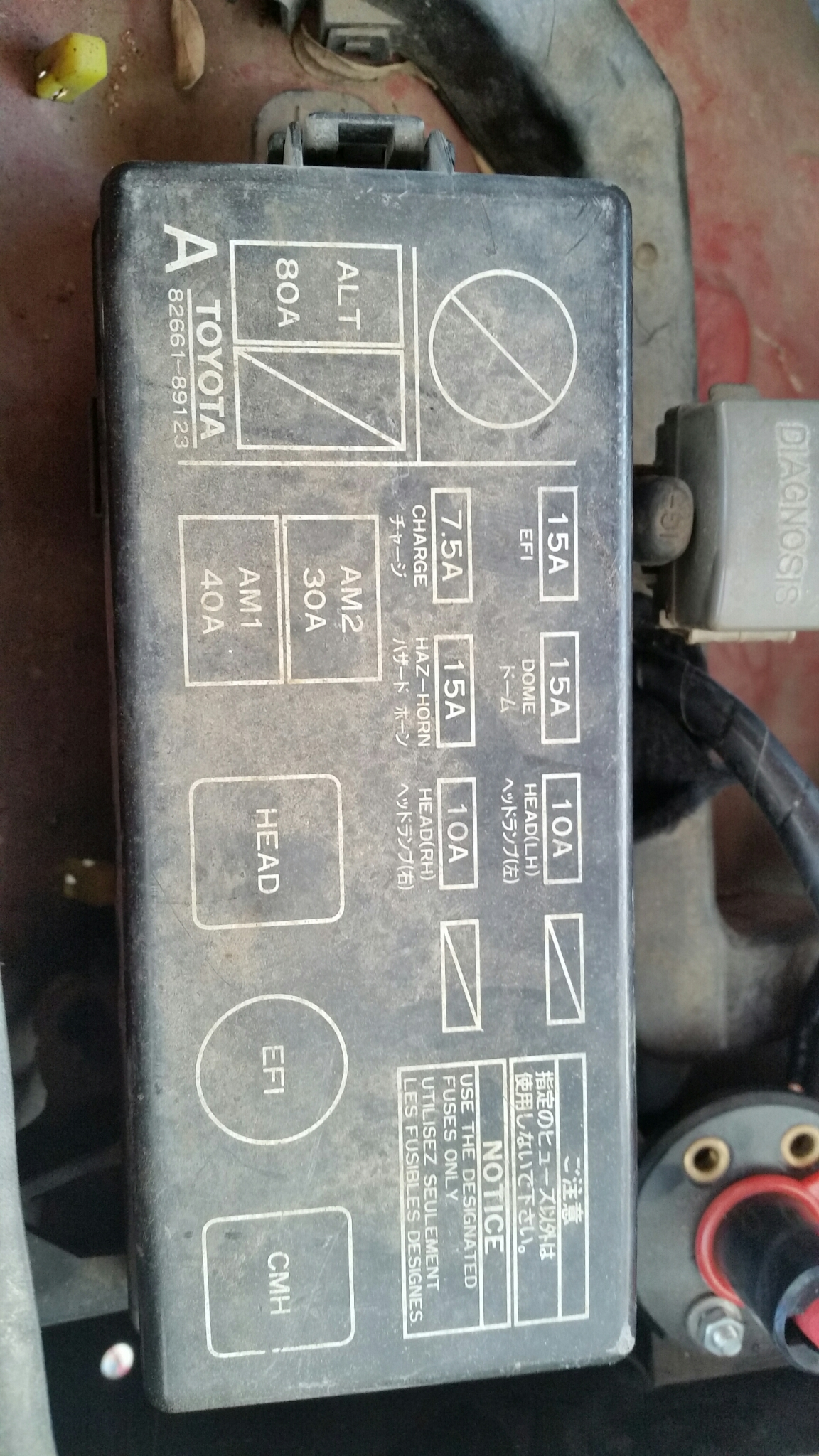 89 Toyota Pickup 22re Has A Parasitic Draw Causing Battery Drain  When I Pull The Am2 Fuse The