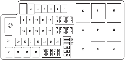 i have a 2006 ford fusion and i am looking for d the fuse box layout rh justanswer com 2010 ford fusion fuse box diagram ff2006 fusebox png