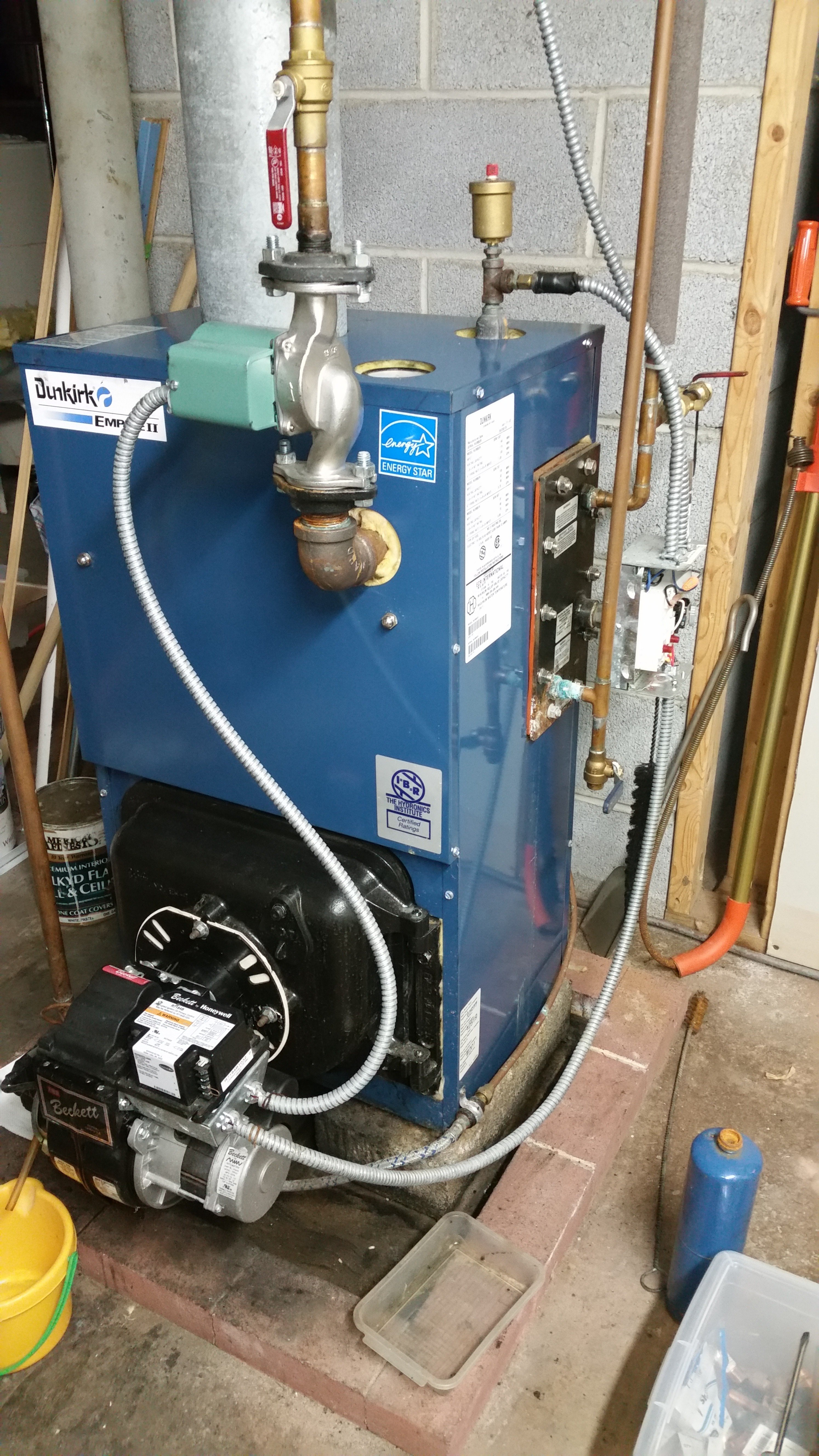 My oil boiler Dunkirk empire II with burner Beckett by Honeywell is ...