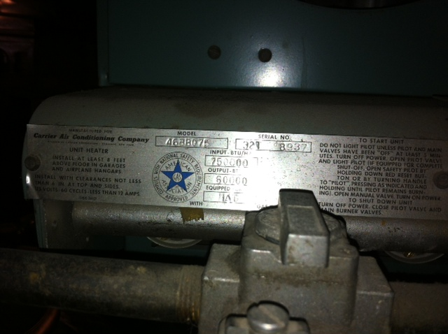 I have an old carrier unit heater (model 46BB075) in the ...  Bb Carrier Unit Heater Wiring Diagram on