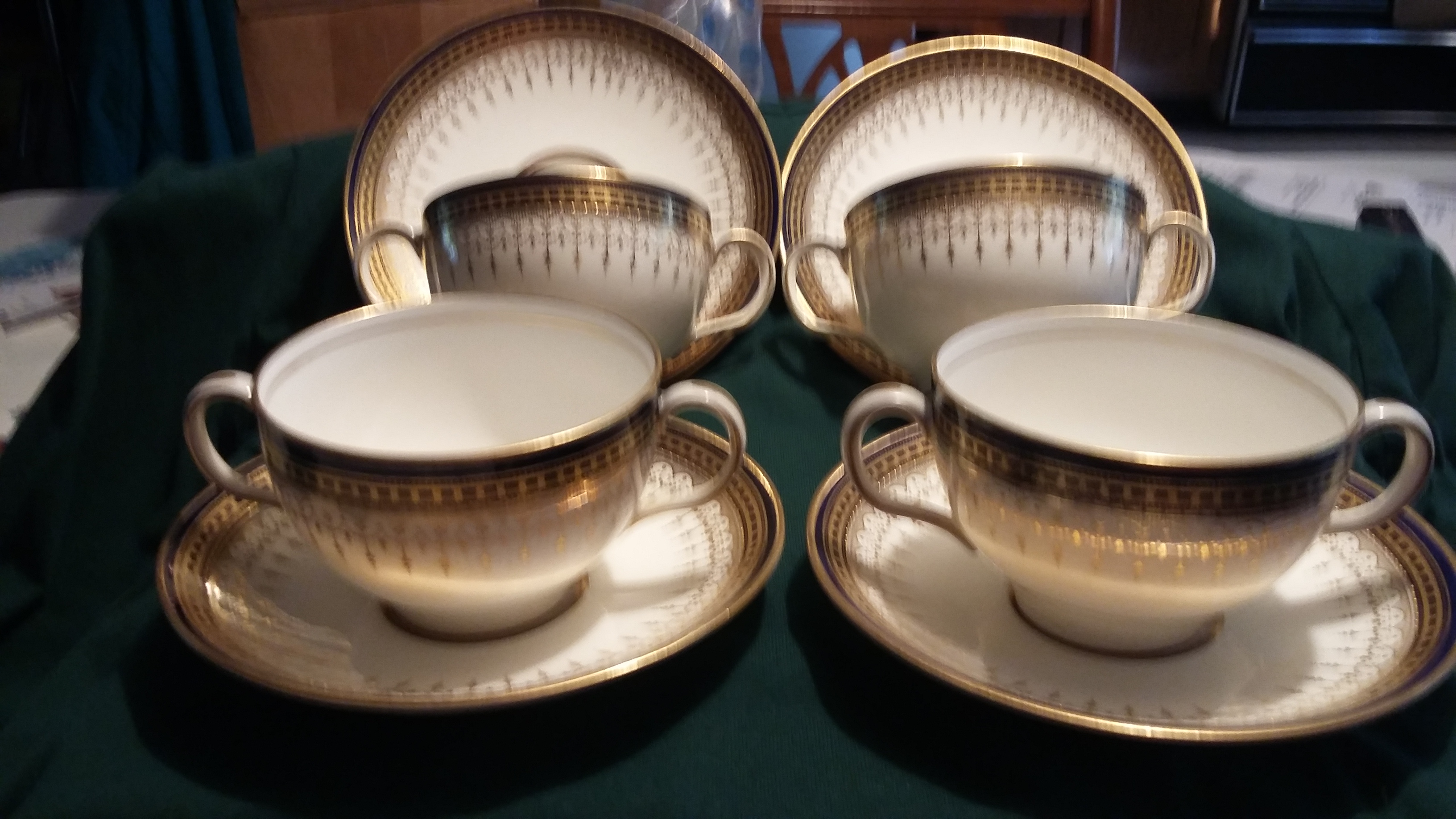 I have a set of six double handled cups and saucers by Royal Doulton
