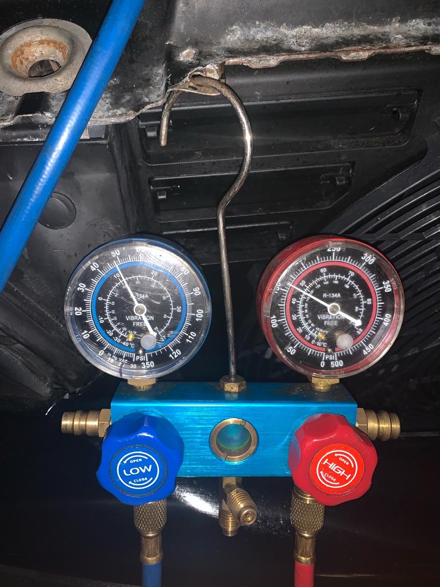 A Car ac specialist Gas 134 a I just replace compressor, I ...