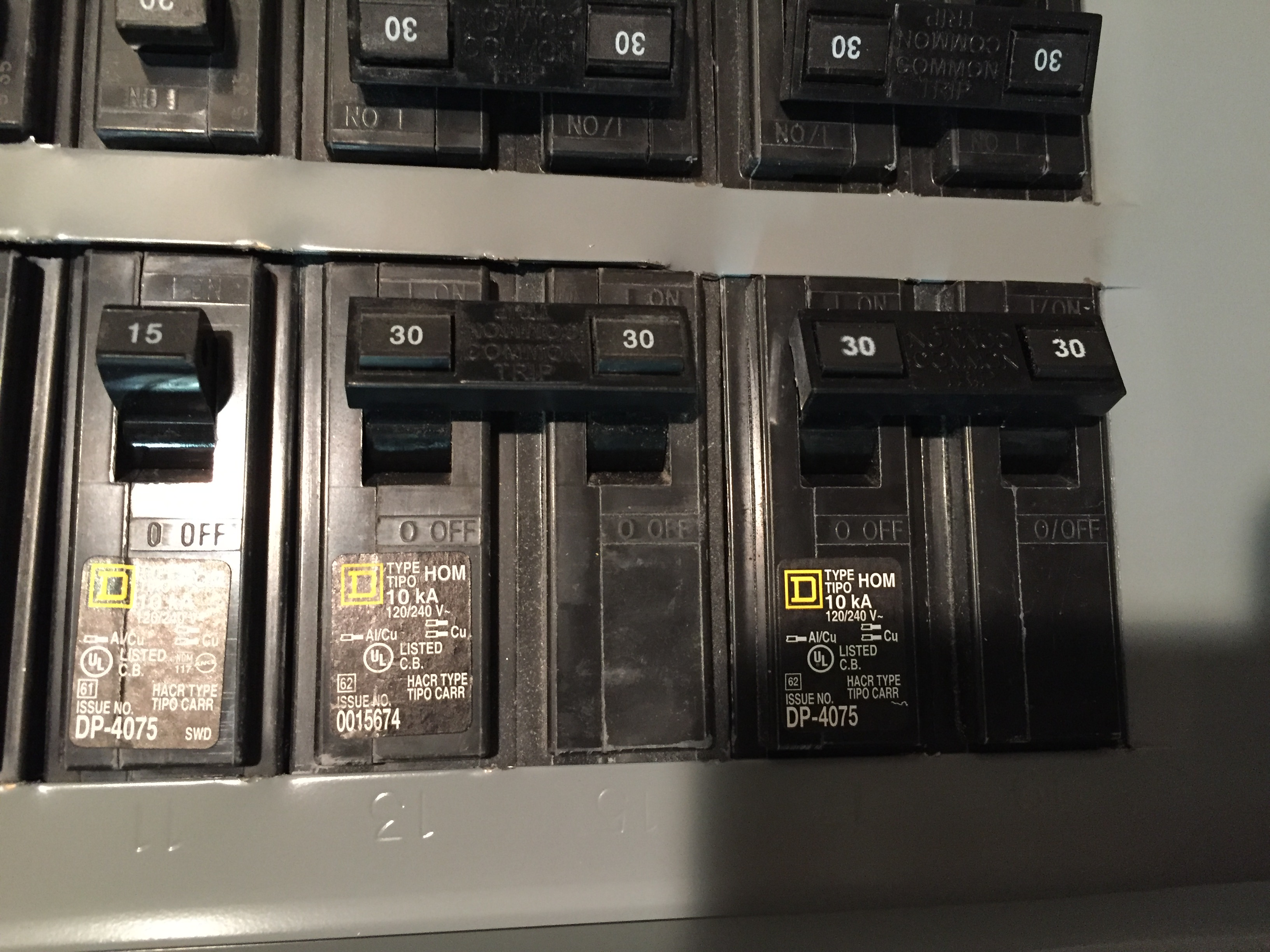 I Have 2 Dedicated Circuits In My Circuit Breaker Box That