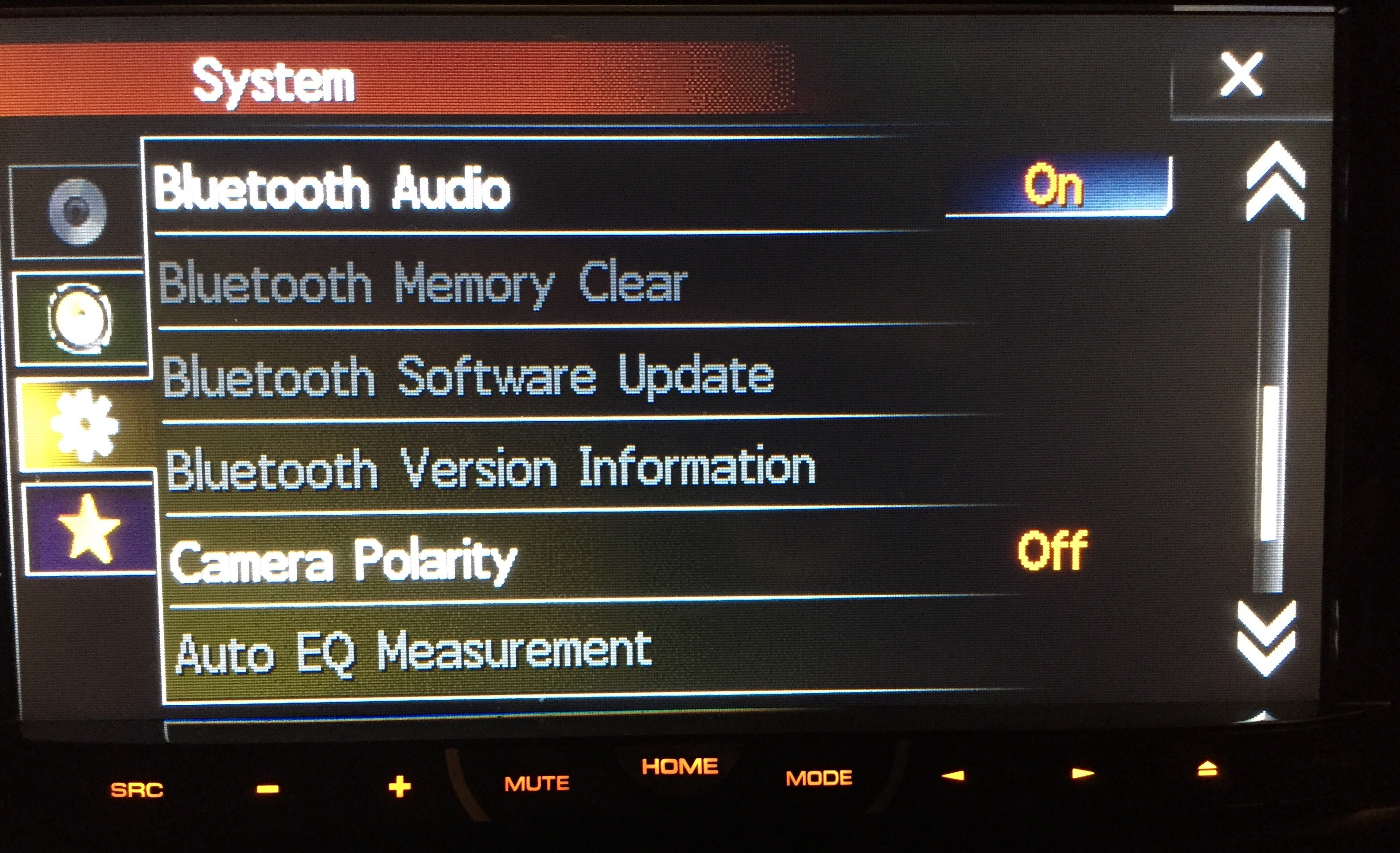 image i updated my pioneer avh p4400bh and now bluetooth is all grayed  at n-0.co