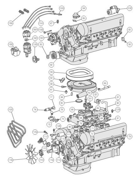 B D Bf E Dc F B F D C Engine on Mercedes 560 Engine Diagram