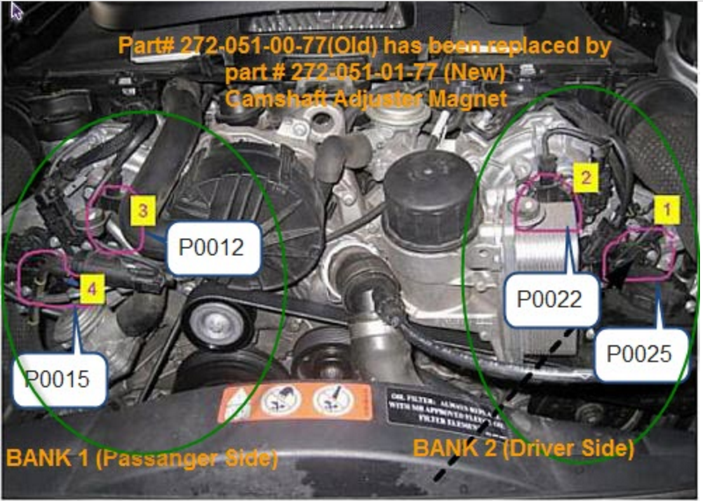 Need a Mercedes mechanic  2008 ML450  Have P0015 code  Cam