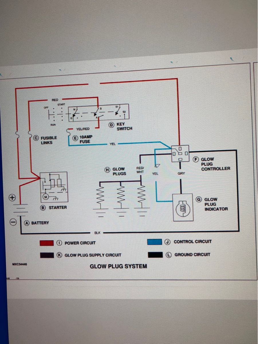 I have a Deere F935 zero turn mower. The problem is when I ... Jd F Glow Plug Wiring Diagram on