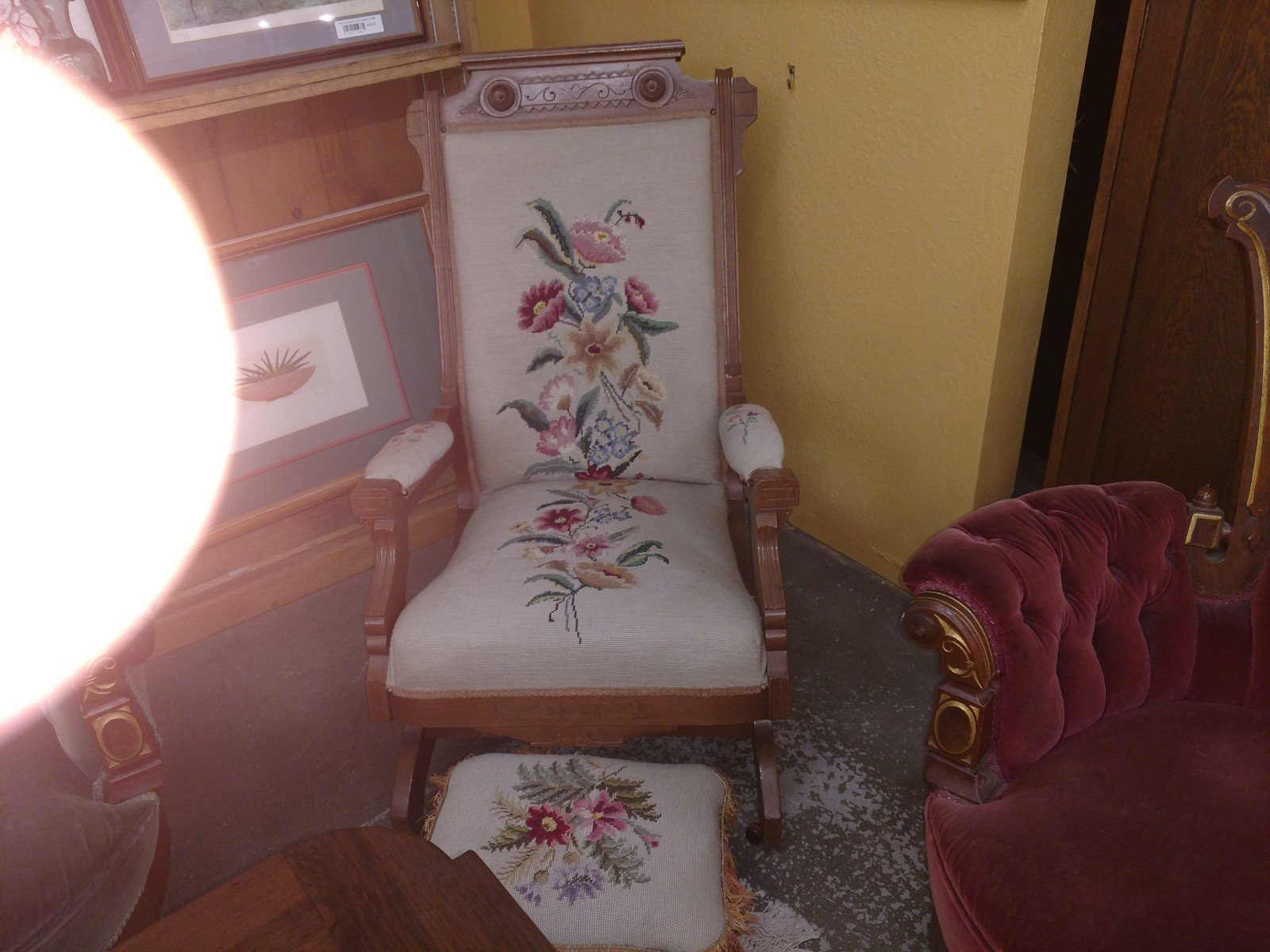 Chair Needlepoint with Stool.jpg