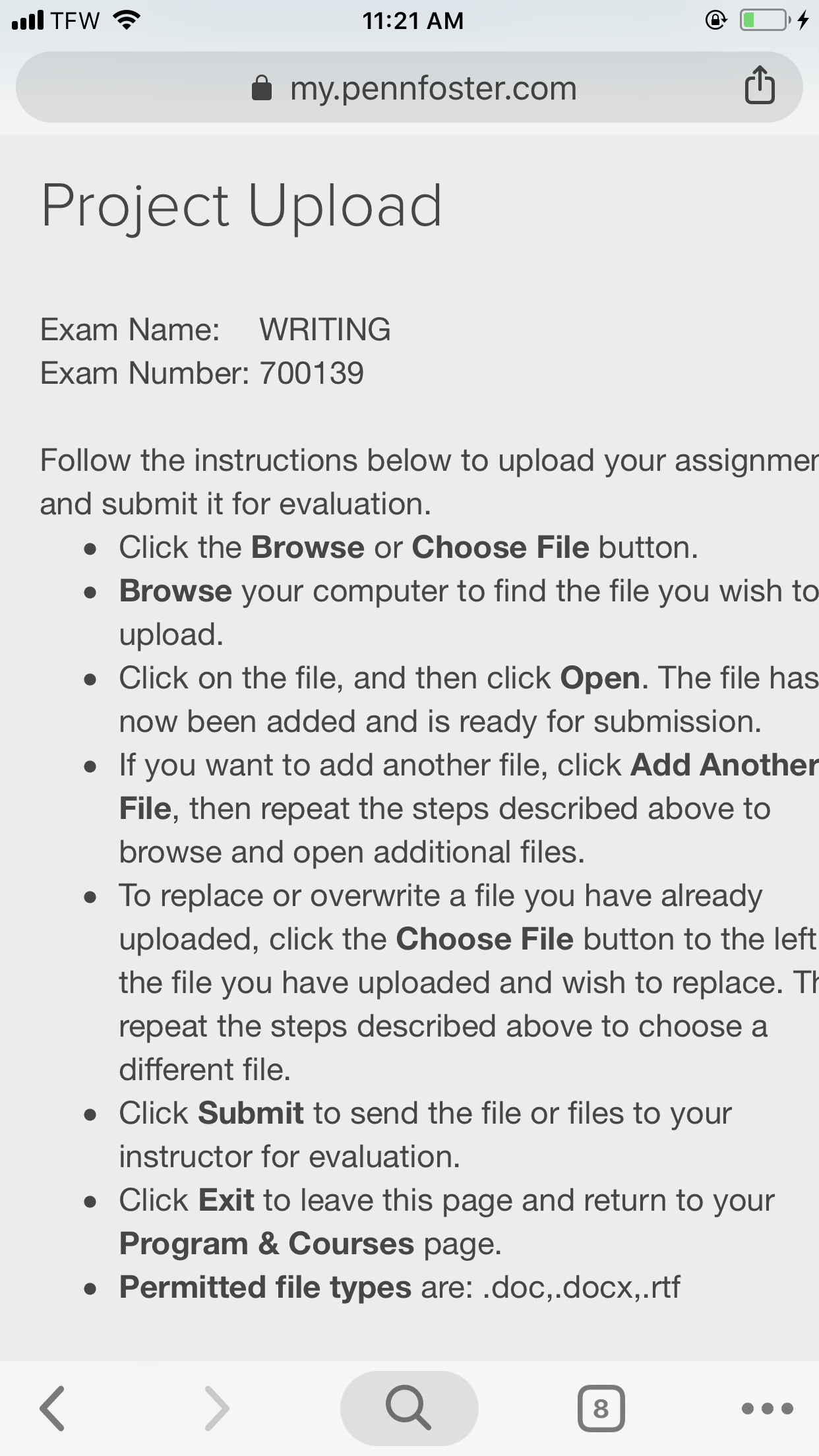 improving your writing penn foster exam