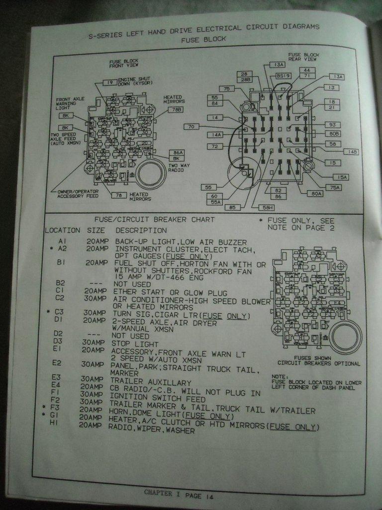 International Prostar Fuse Box Diagram - Wiring Diagram