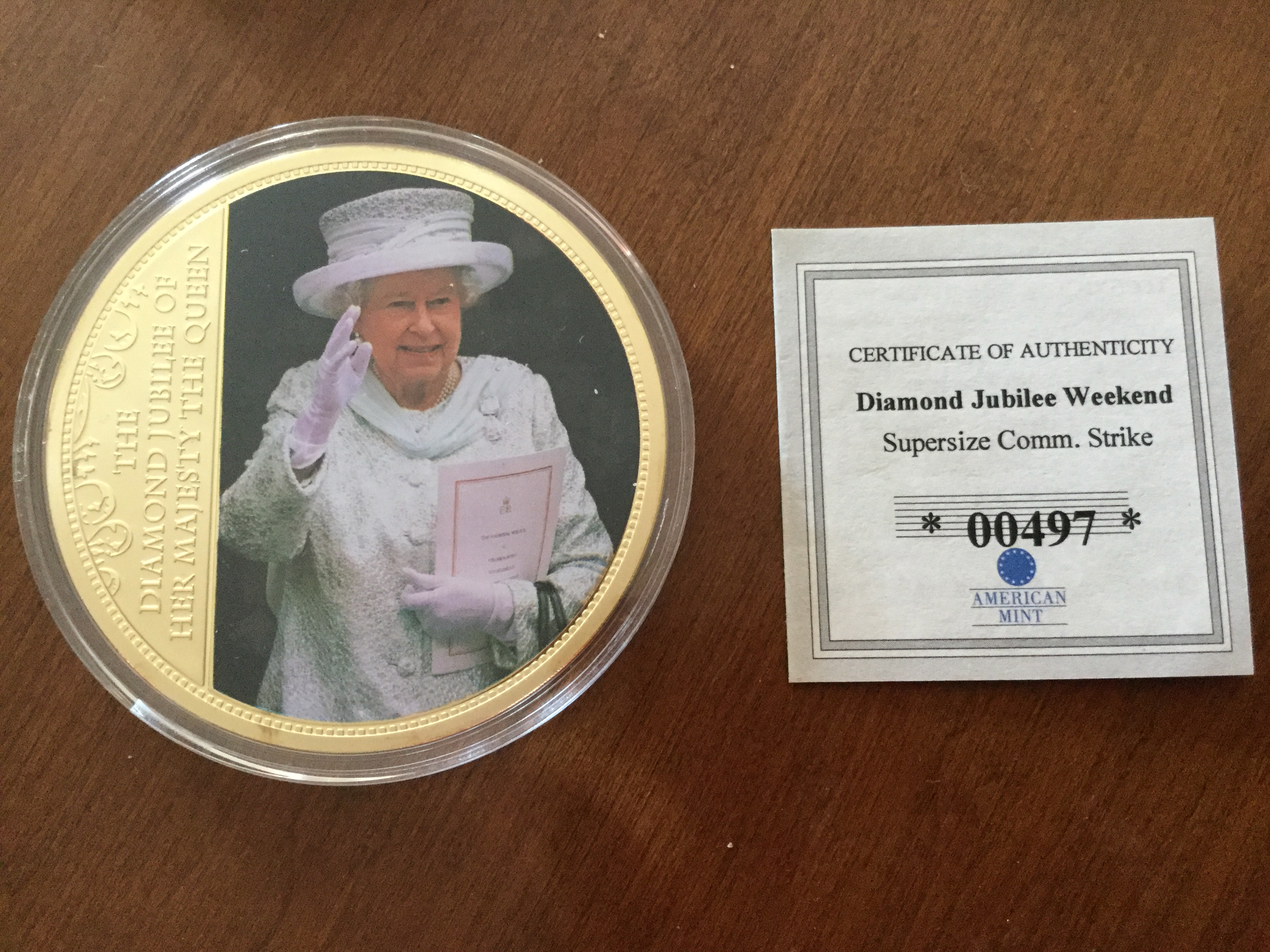 Queen collector coin.JPG