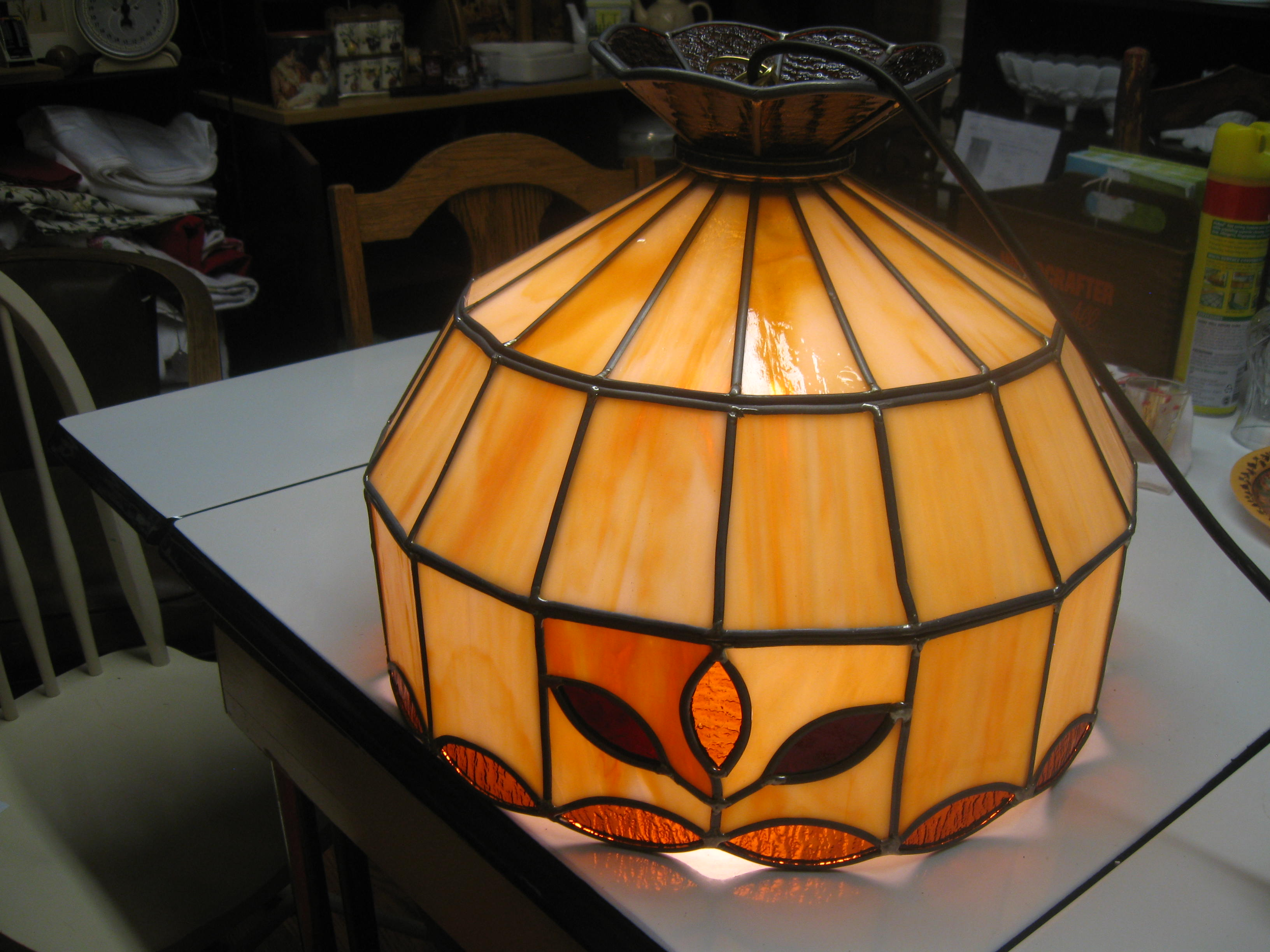 Tiffany style, man made material, lamp 001.JPG