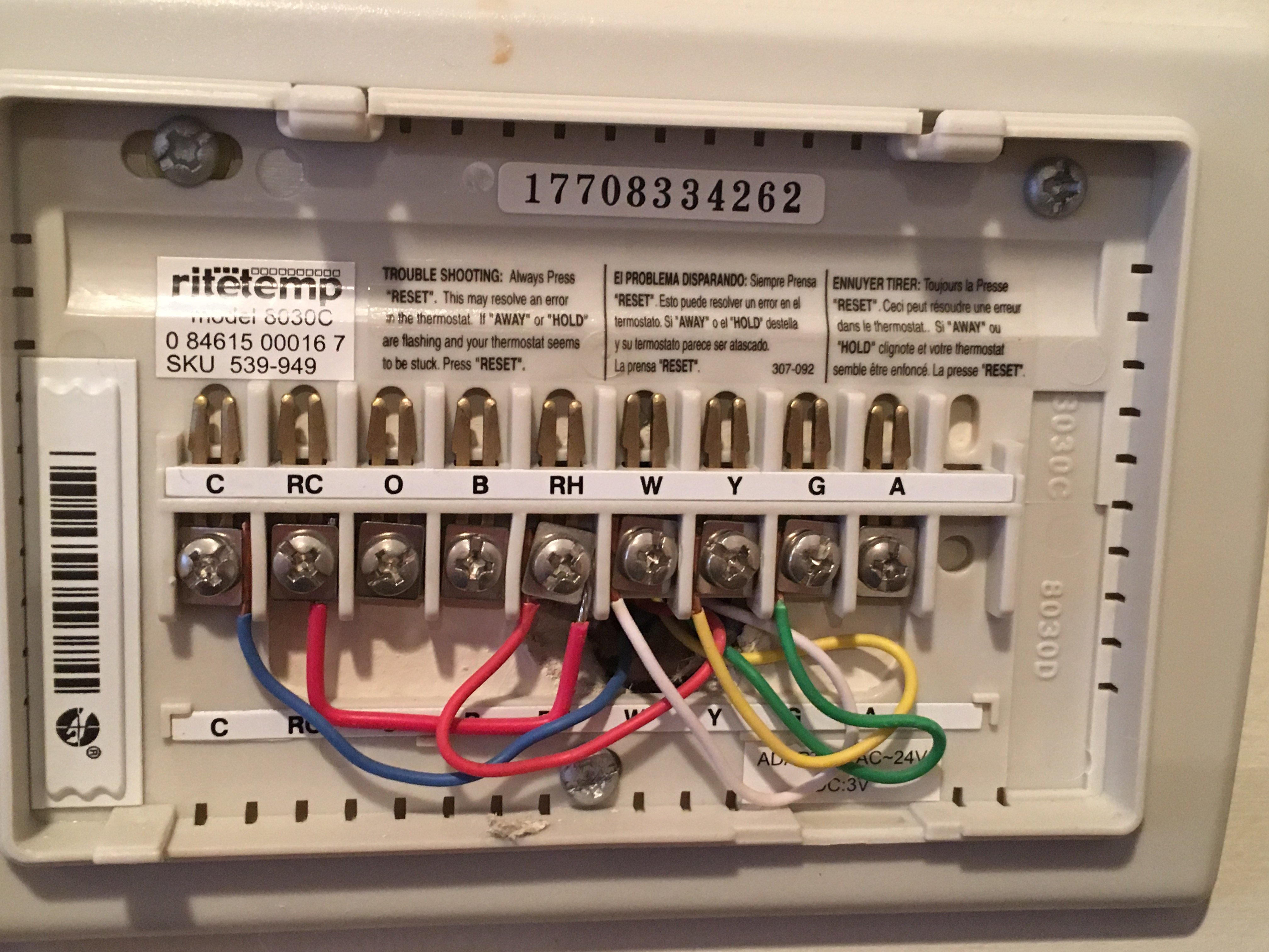 I Installed A New Honeywell Lyric T5 Thermostat And Now Heat Wont Wiring For Central Ac Img 3710jpegimg 3710jpeg 3706jpeg