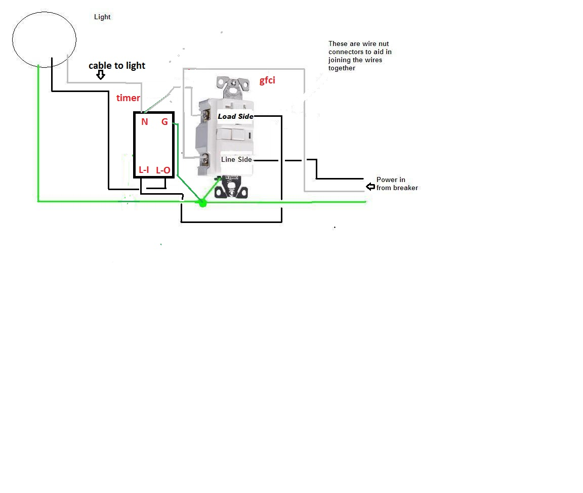 Wiring Diagram For Gfci Timer. . Wiring Diagram on