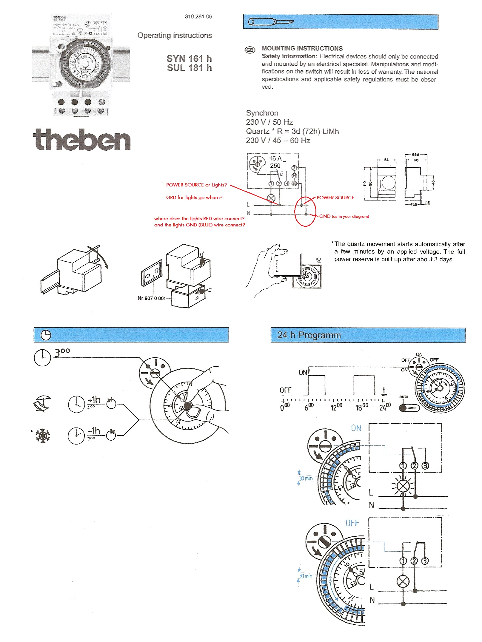 I Have A Sul181h Electrical Timer Two Wires Coming From Type 181 Wiring Diagram Cheers Graphic