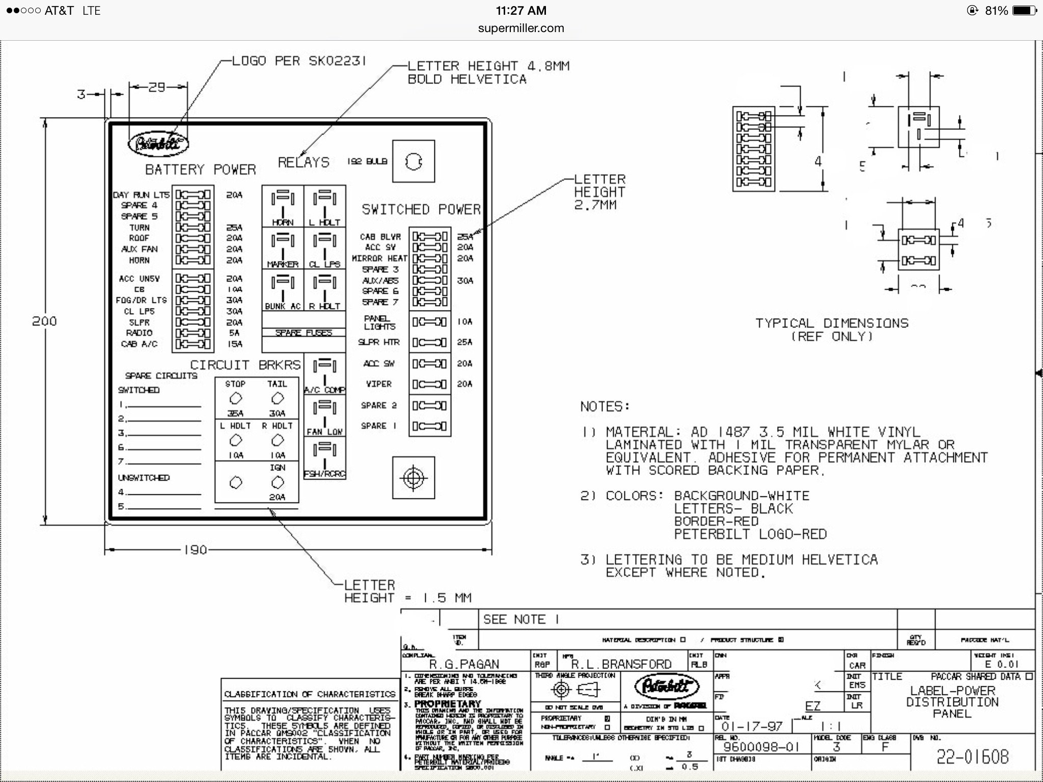 2000 Kenworth W900 Fuse Diagram Wiring Schematic  1988 Kw