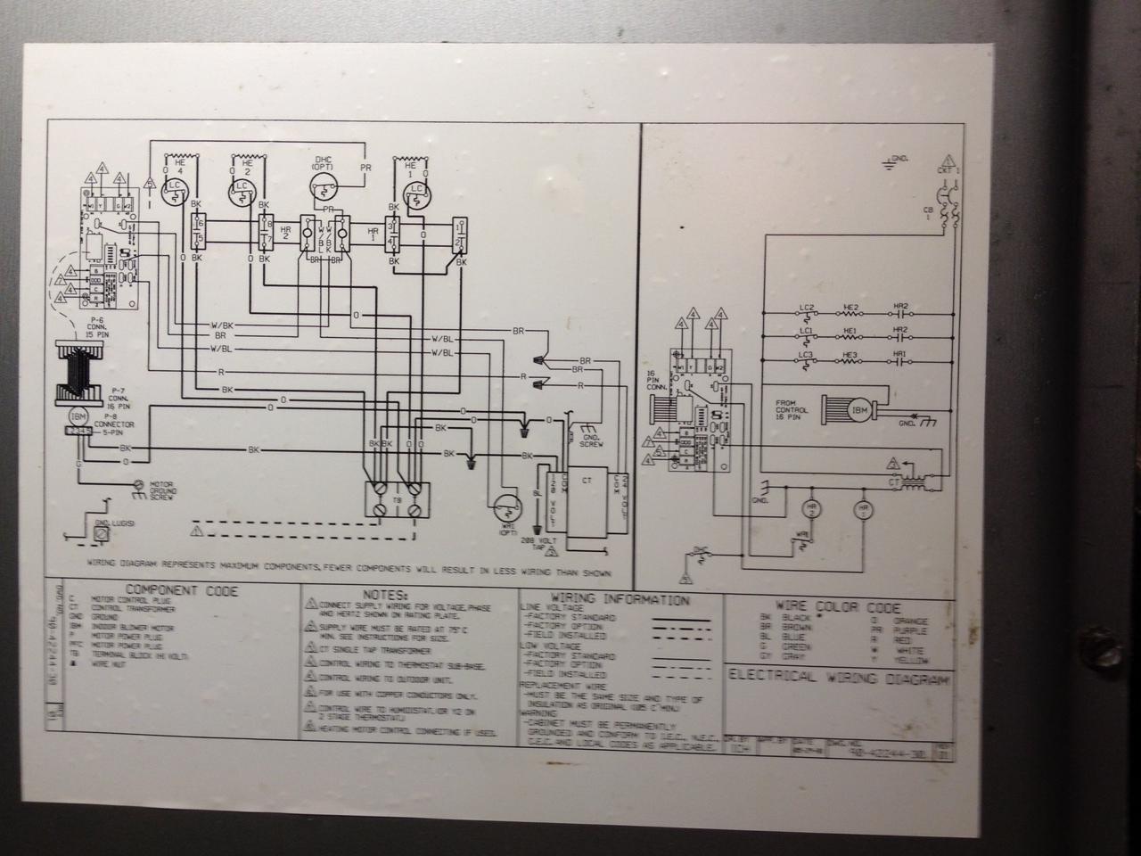 rheem model rbhc-21j11nfc straight kool evaporator fan does not turn on installation  manual on thermostat
