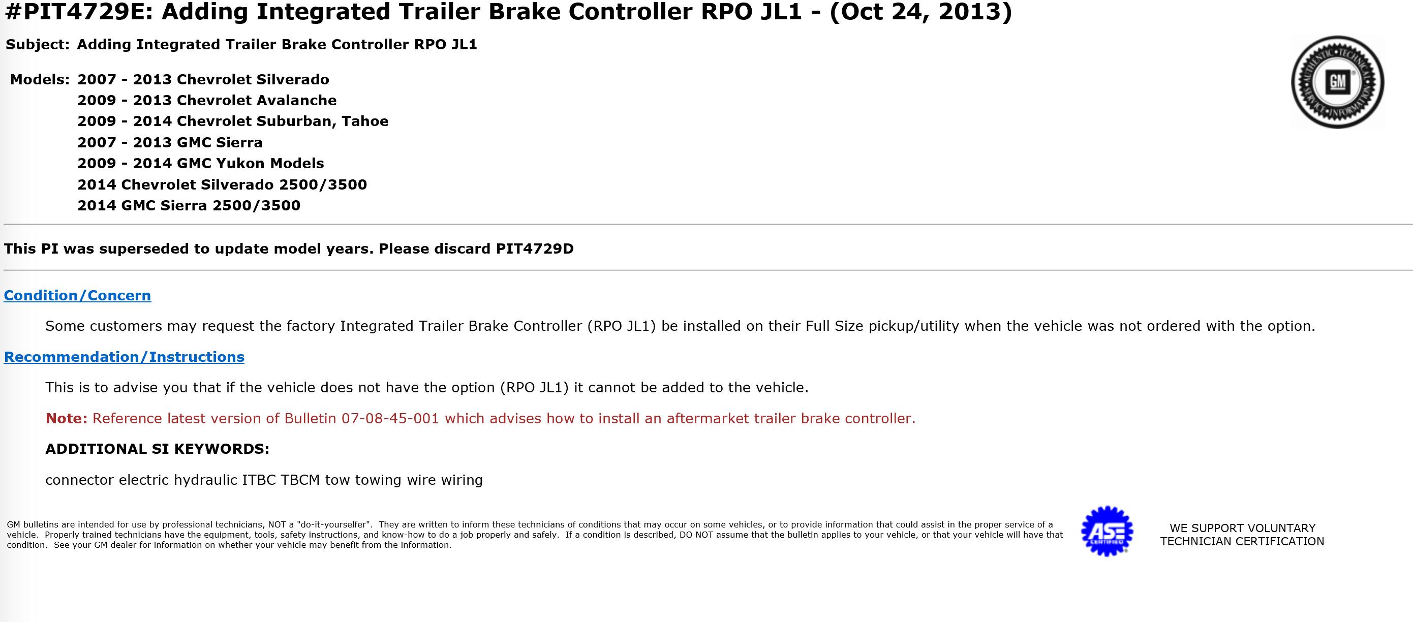 2007 Gmc Sierra Trailer Brake Wiring Diagram Library Integrated Controller Best 2017
