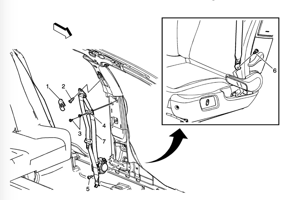 2011 Chevy Malibu Lt Code B0039 Right Rear Pretensioner