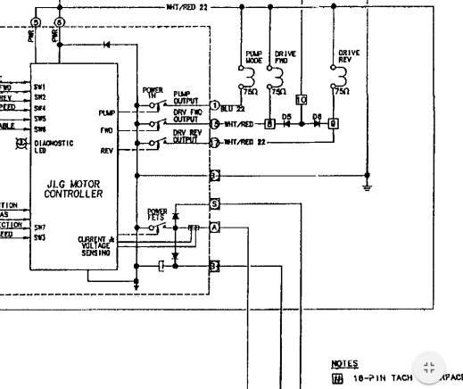 I have a jlg 30e with an au1830 dc motor controller the for Industrial dc motor controller