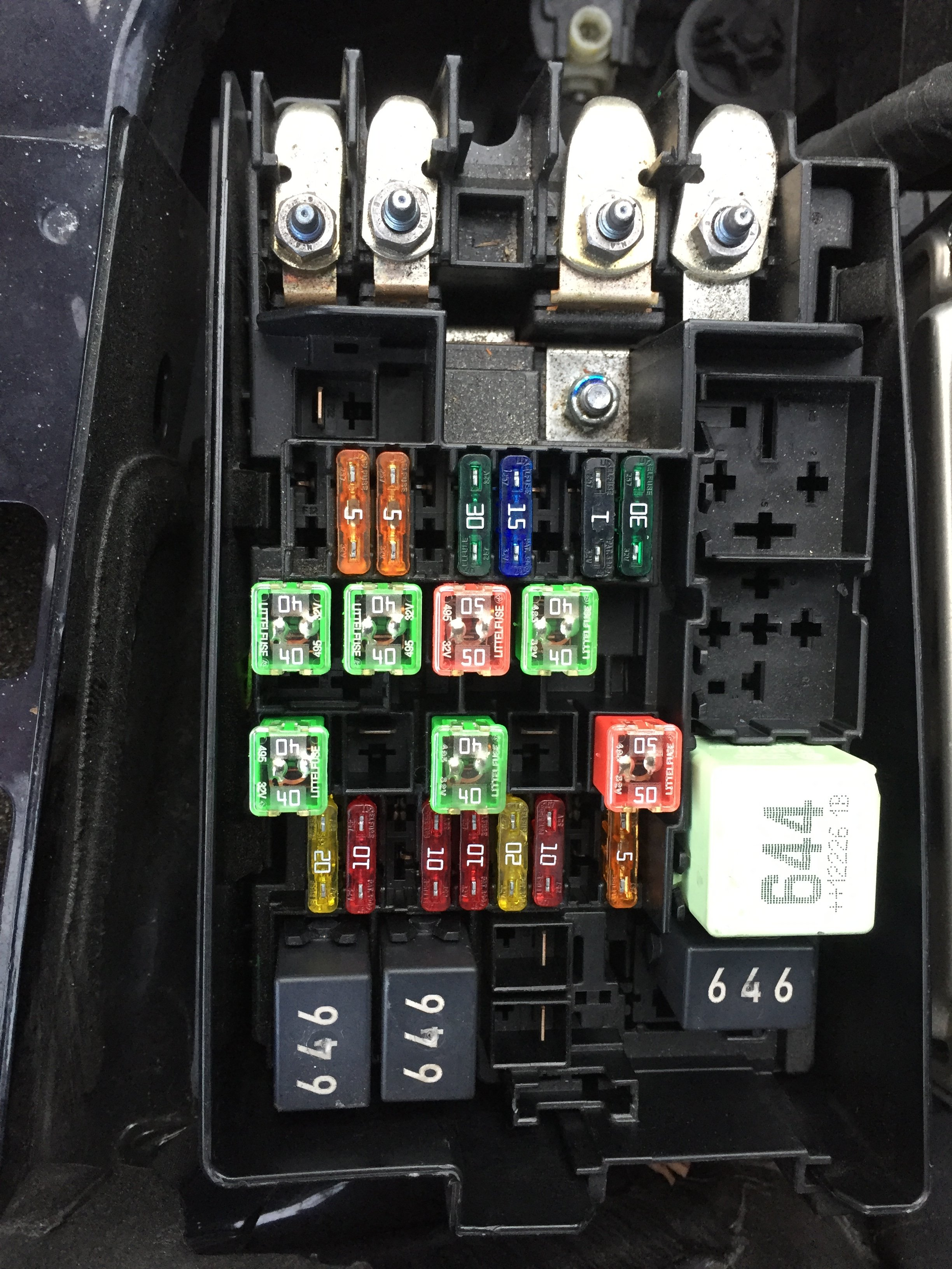 2013 gli... need fuse box diagrams for engine bay and ...