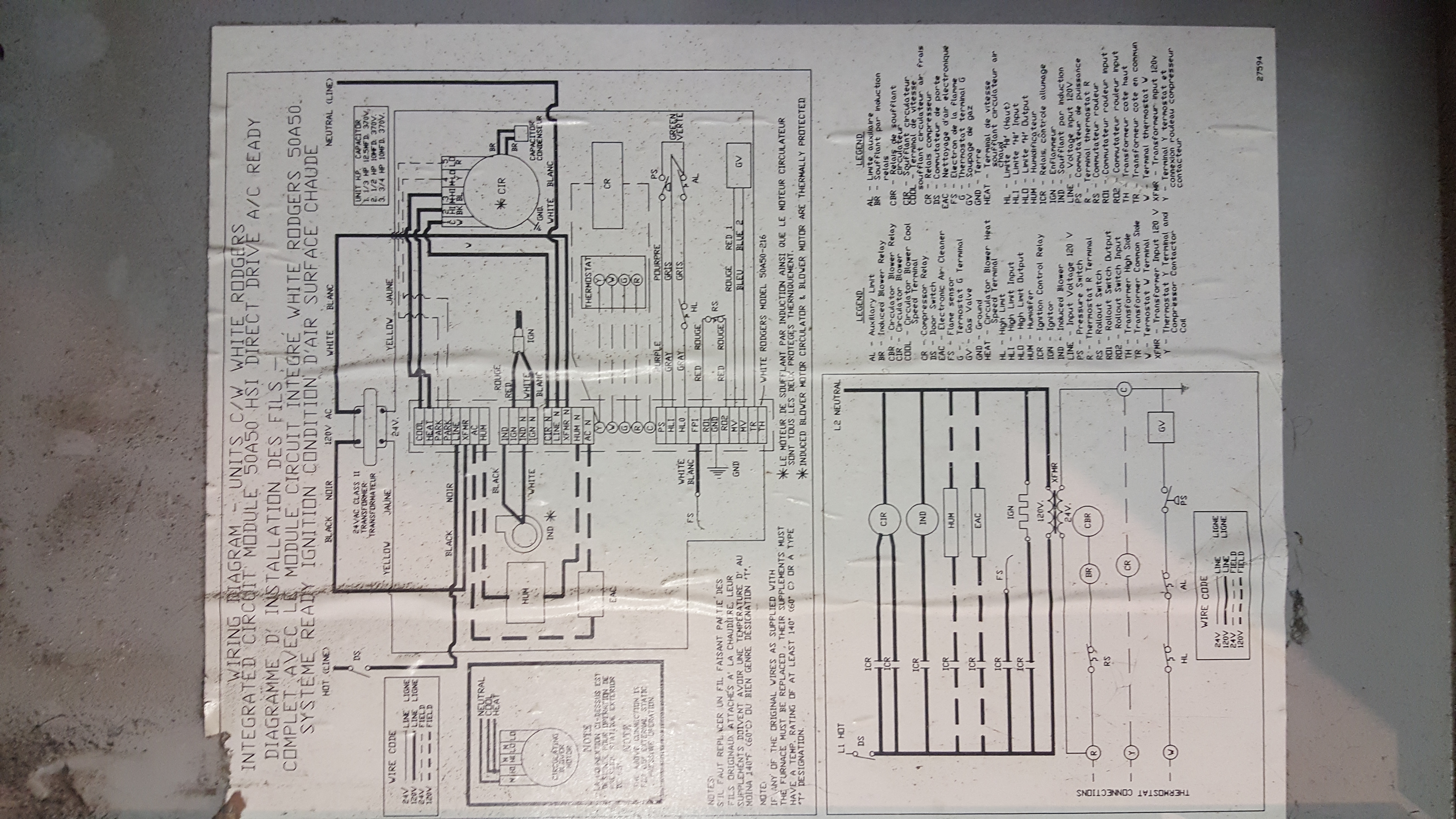 Olsen Oil Furnace Wiring Diagram I Have A Ultramax That Is Not Blowing Hot Air Need 20160130 183511