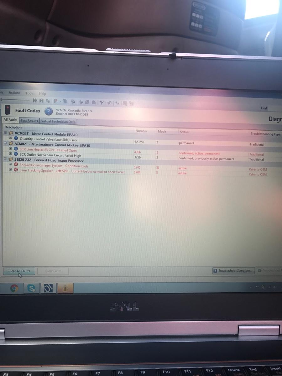 2012 Cascadia vin#BE9314 I have fault code bad nox sensor