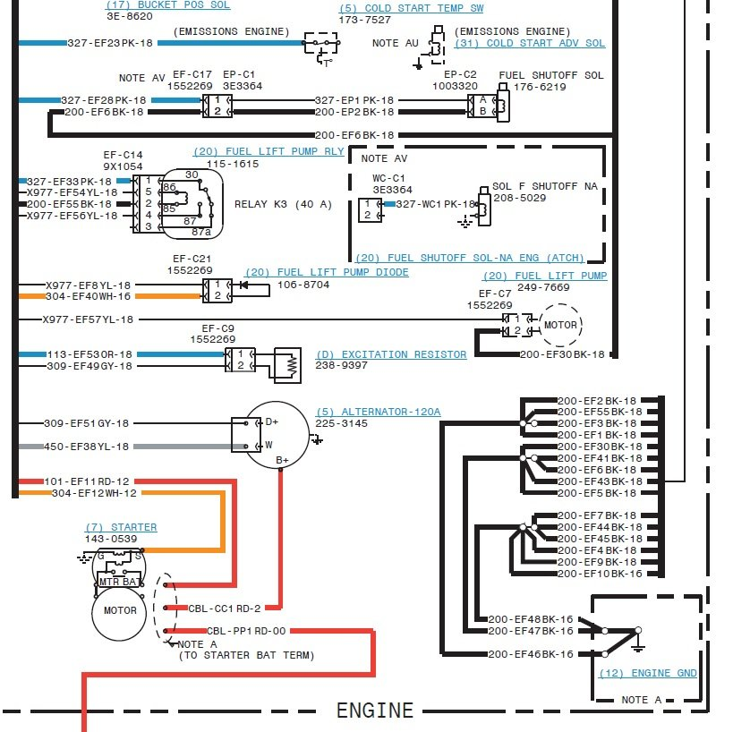 cat 420d wiring diagram have a 420d that won't start, 420d backhoe loader:s/n ... #7