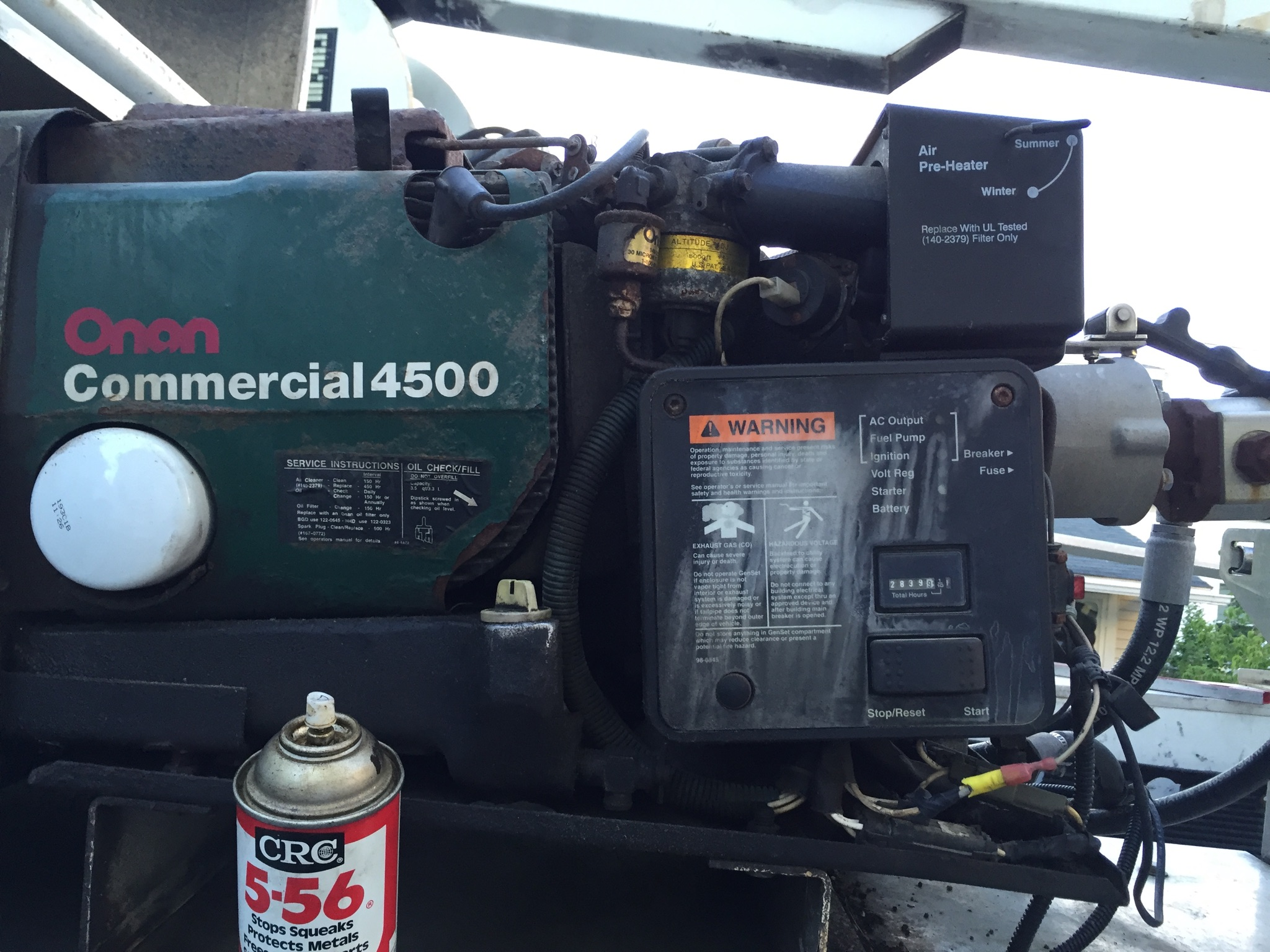 I have an Onan 4500 on my bucket truck   the truck is a 2002